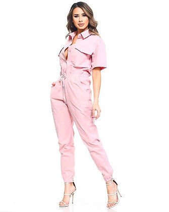Piped Up Boiler Jumpsuit