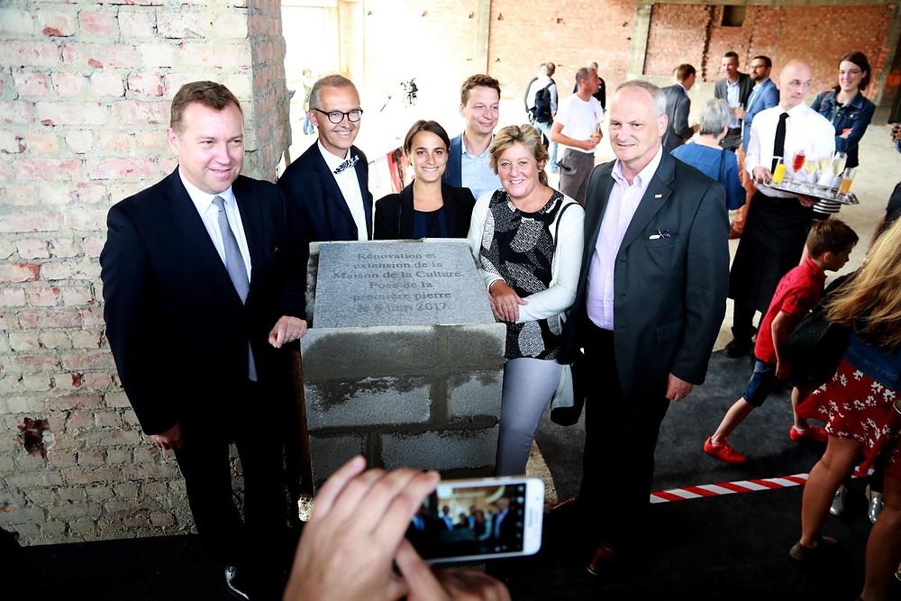 Pose de la première pierre Maison de la Culture Namur