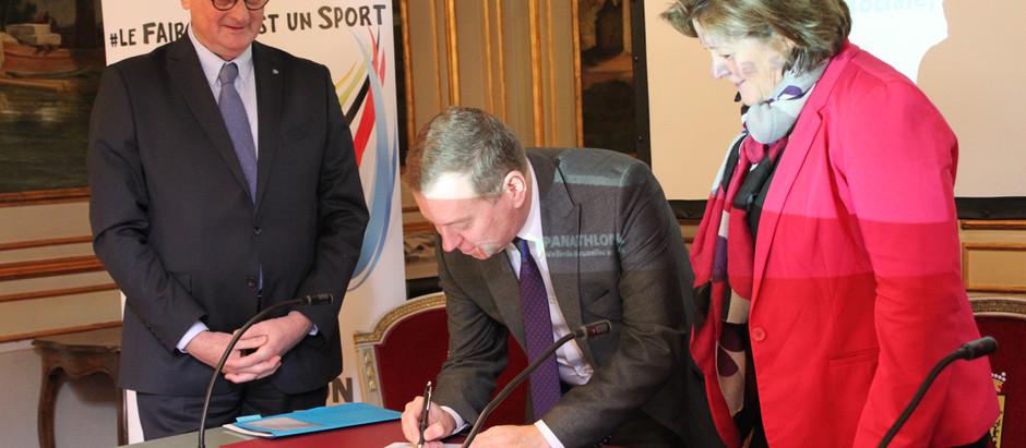 La Province de Namur «prend le relais» en adhérant à la charte de l'ASBL Panathlon
