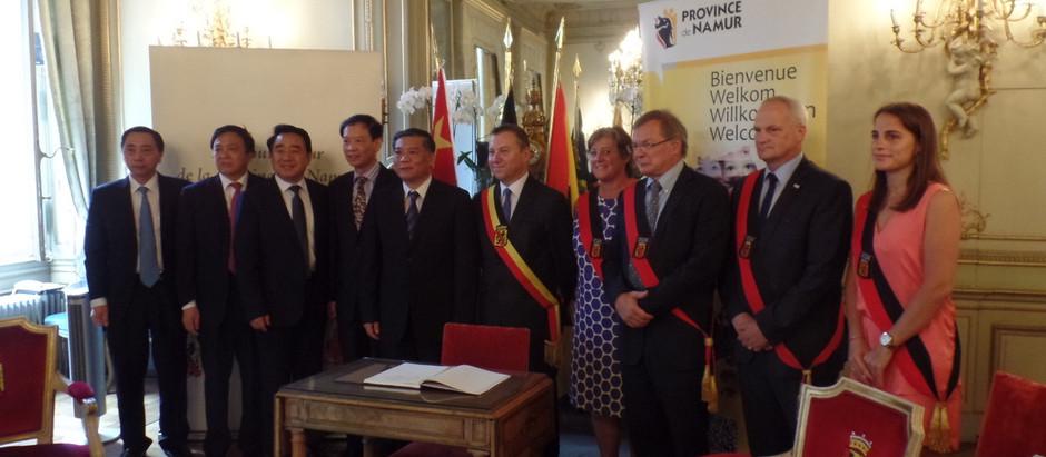 15 ans de jumelage entre les province de Namur et Jiangsu (Chine)