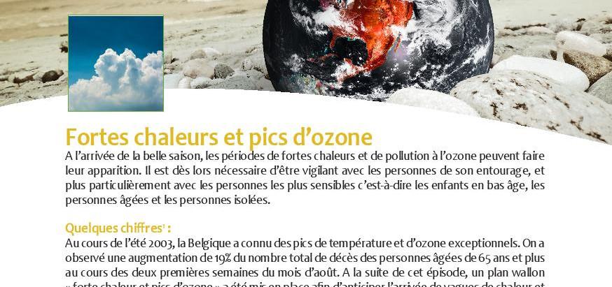 Billet Santé: Fortes chaleurs et pics d'ozone