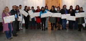 Remise des chèques Lutte contre l'illettrisme & l'exclusion sociale