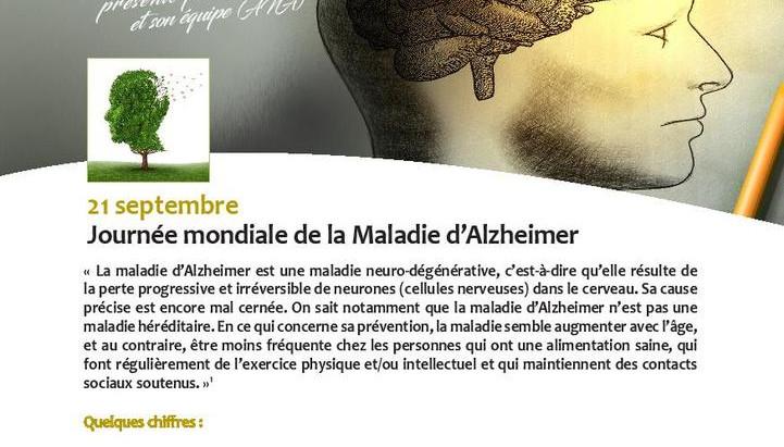 Billet de santé du mois: l'Alzheimer