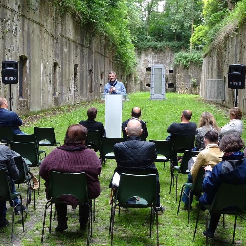 G. Lazaron au Fort d'Emines Namur