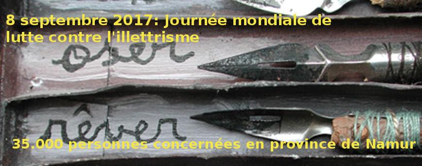 Journée mondiale de lutte contre l'illettrisme, la Province de Namur soutient les acteurs de ter