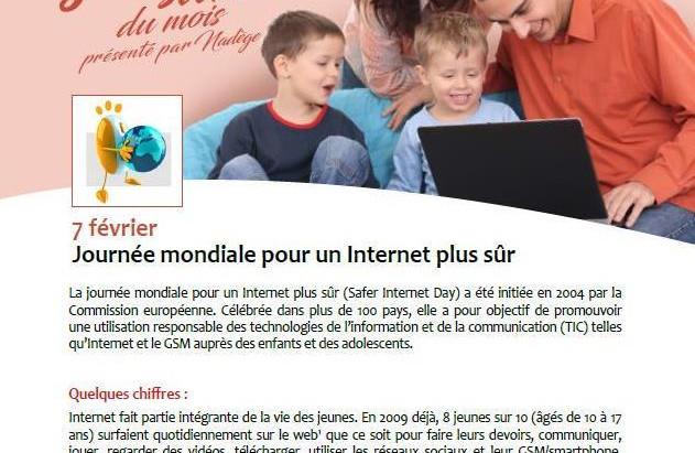 Billet Santé de la Province de Namur : 7 février Journée mondiale de l'internet plus sûr