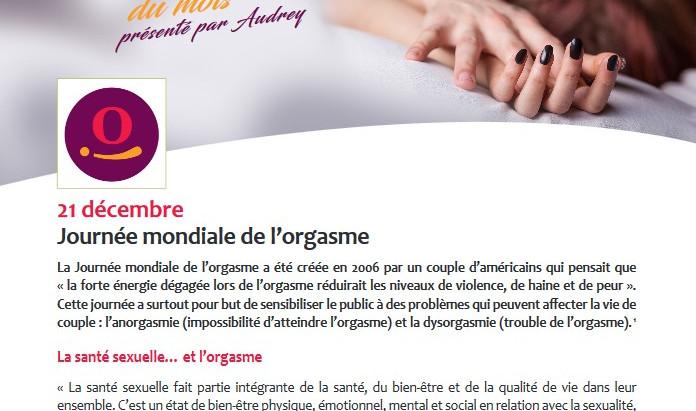 La journée mondiale de l'orgasme mise à l'honneur par la Province de Namur!