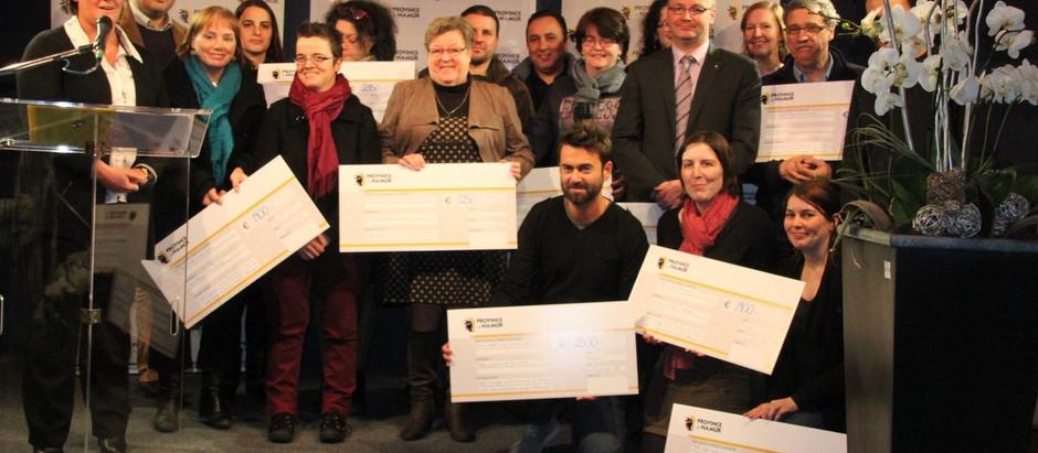 Remise des prix des appels à projets 2014 de la Province de Namur