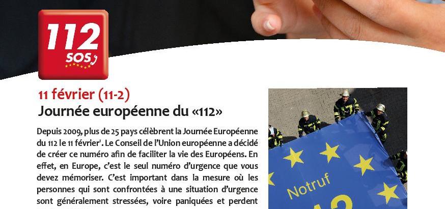 """Journée Européenne du """"112"""""""
