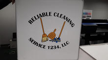 Reliable Cleaning Service Sign