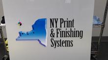 Custom NY Print & Finishing Systems Sign