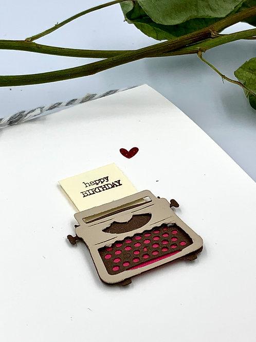 Birthday: Typewriter