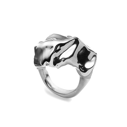 Molten Ring | Sterling Silver