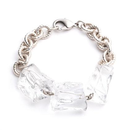 Lucite Ice Bracelet | Silver