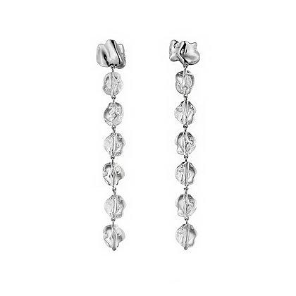 Midi Lucite Drip Earrings | Sterling Silver
