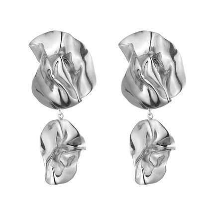 The Fold Earrings | Sterling Silver