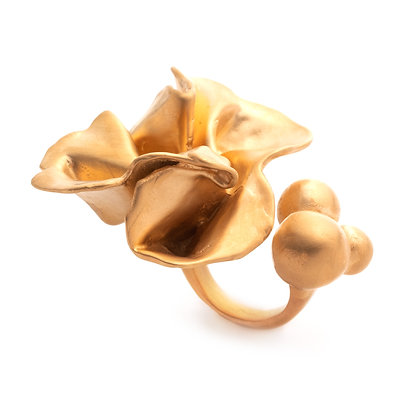 Delphinium Ring | Satin Gold