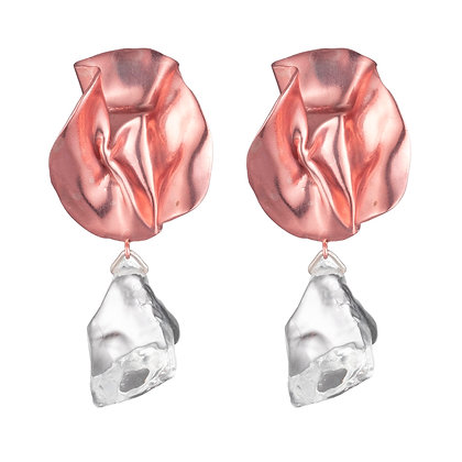 Cecily Lucite Earrings | Petal Pink