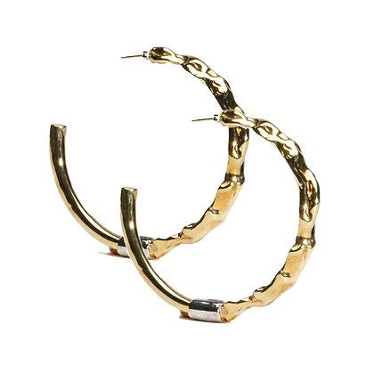 Molten Hoops | Gold