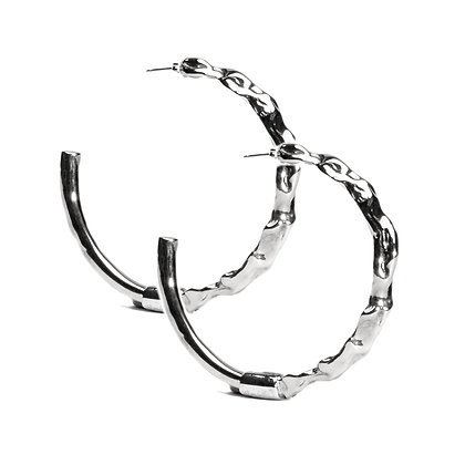 Molten Hoops | Sterling Silver