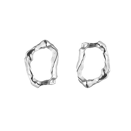 Molten Loop Earrings | Sterling Silver