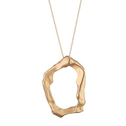 Molten Pendant Necklace | Matte Gold