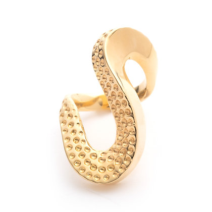 Lithop Wave Ring | Gold