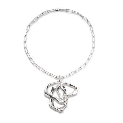 Molten Ribbon Pendant | Sterling Silver
