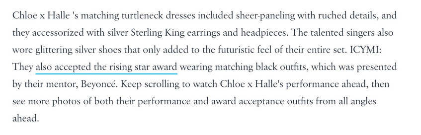 Chloe x Halle wear Sterling King