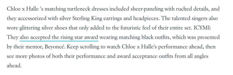 Chloe x Halle wear Sterling King