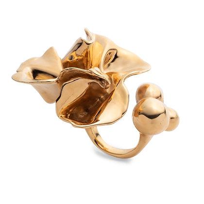 Delphinium Ring | Mirror Gold