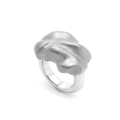 Molten Ring   Sterling Silver