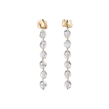 Midi Lucite Drip Earrings | Gold