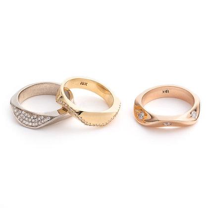 Diamond Ridge Band Ring