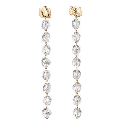 Long Lucite Drip Earrings | Gold