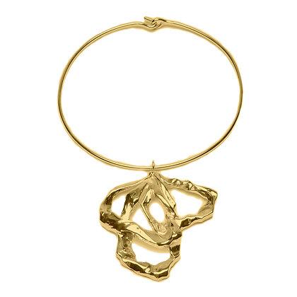 Molten Pendant Choker | Gold