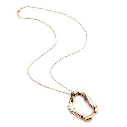 Molten Pendant Necklace | Gold