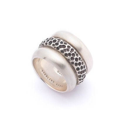 Trinity Band Ring | Oxidized Silver