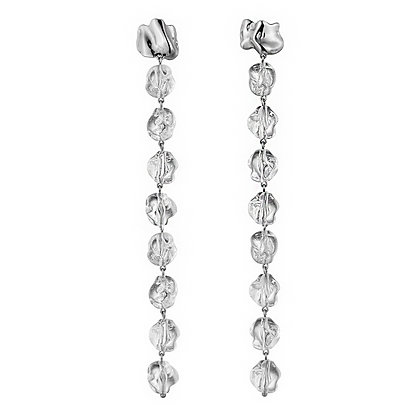 Long Lucite Drip Earrings | Sterling Silver