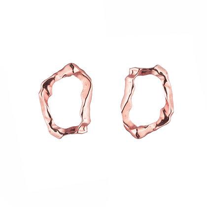 Molten Loop Earrings | Rose Gold
