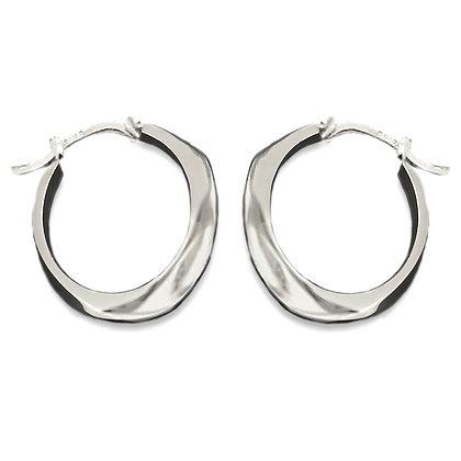 Ridge Hoop Minis   Sterling Silver