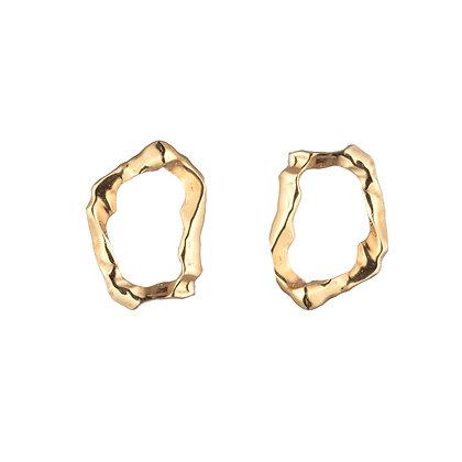 Molten Loop Earrings | Gold