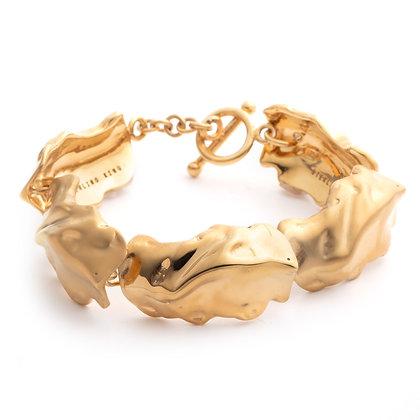 Molten Link Bracelet | Gold