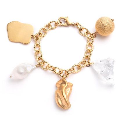 Finder's Keeper's Charm Bracelet | Gold