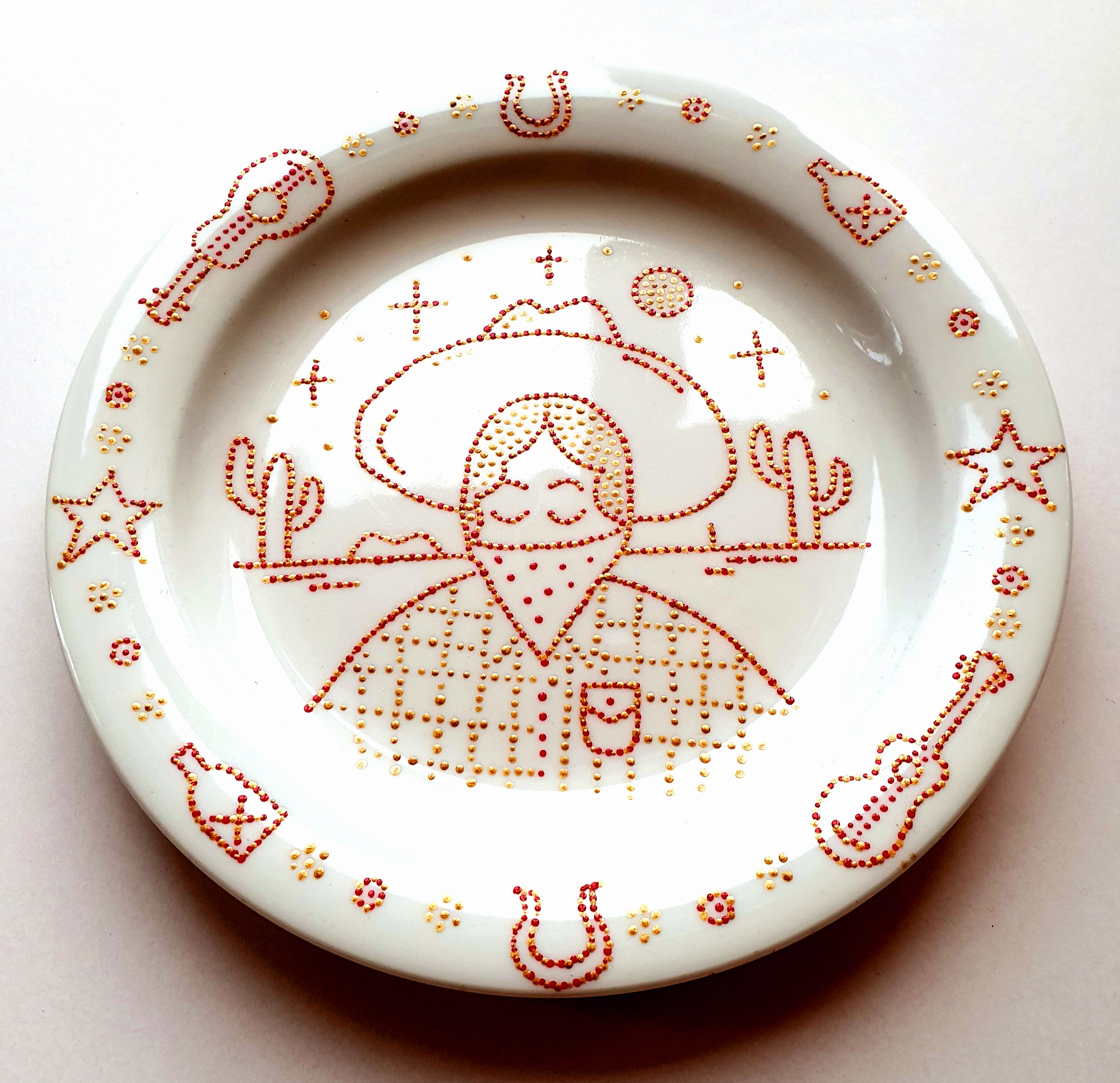 Cowgirl plate