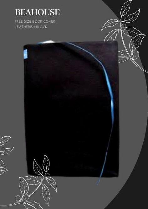 Beahouse Free Size Book Cover Leatherish (Black)