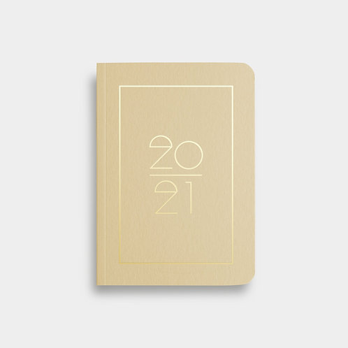 Navucko Pocket Kalender Jahreskalender 2021 für Termine Sand Beige