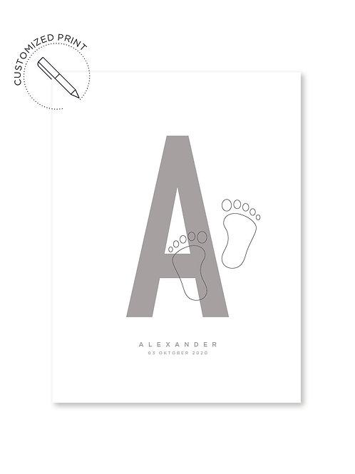 Personalisiertes Custom Poster Print mit Typografie als Geschenk zur Geburt