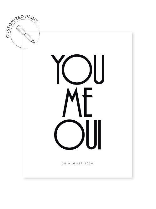 Personalisierter Print - You Me Oui zur Hochzeit