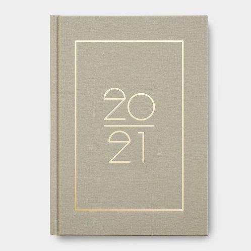 Navucko Hardcover Kalender Jahreskalender 2021 für Termine Beige Sand